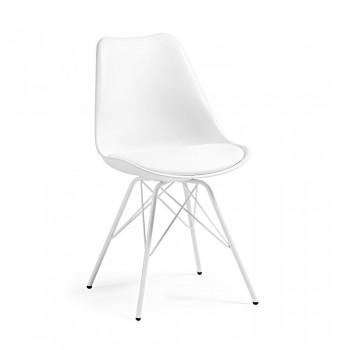 Nordic - Silla confidente Nordic patas de Metal, blanco - Imagen 1