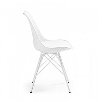 Nordic - Silla confidente Nordic patas de Metal, blanco - Imagen 2