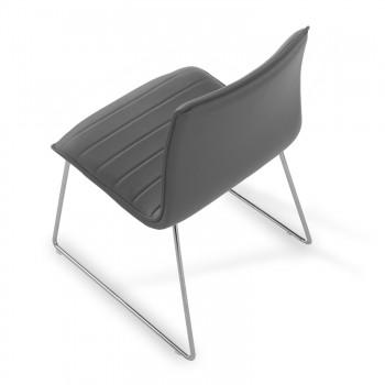 Cube - Silla confidente Cube patín gris - Imagen 2