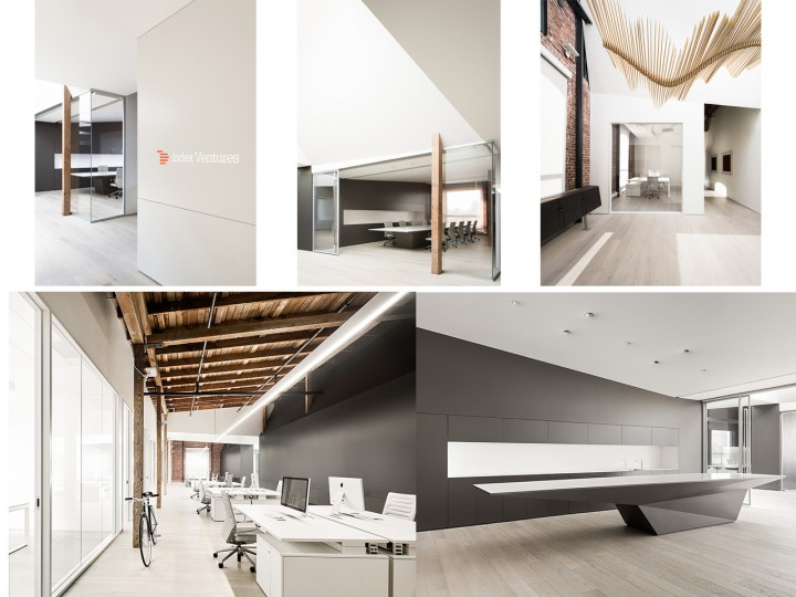Arquitectura de oficinas modernas y luminosas