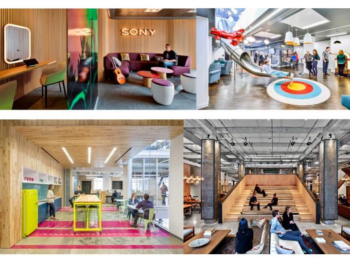 Coworking y arquitectura de oficinas modernas