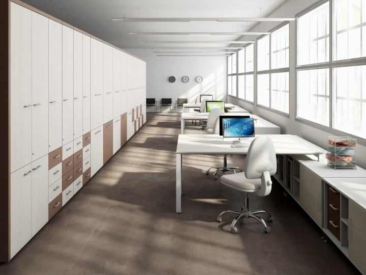 Qué es la ergonomía en el trabajo: ofiicina con muebles de Ofiprix