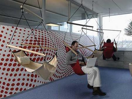 ¿Cómo son las oficinas de Google?: hamaca