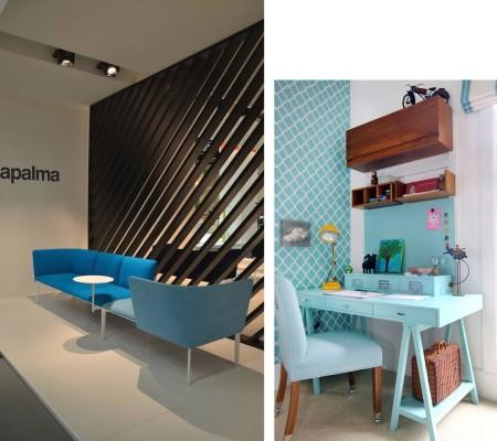 colores azules para oficinas modernas