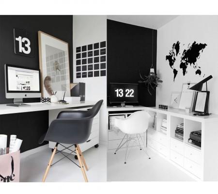 colores blanco y negro para oficinas modernas