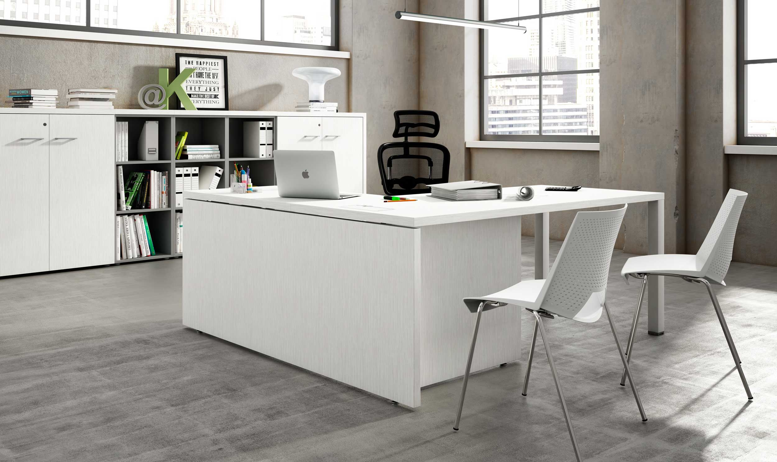 5 claves para conseguir unas oficinas minimalistas for Oficinas modernas en casa