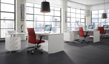 Contrastes de color en oficinas minimalistas