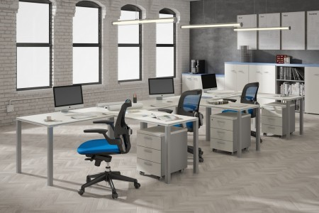 Espacios abiertos para oficinas minimalistas