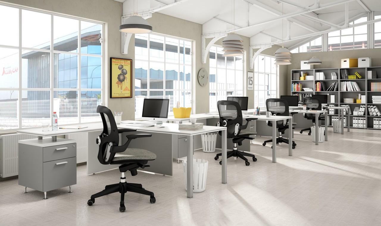 5 claves para conseguir unas oficinas minimalistas for Plantas de oficinas modernas