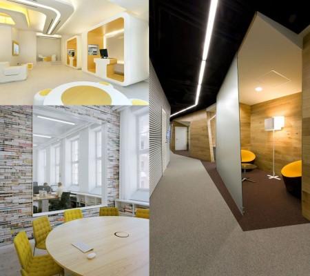 colores mostaza para oficinas modernas
