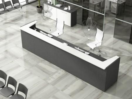 Oficinas minimalistas en blanco y negro