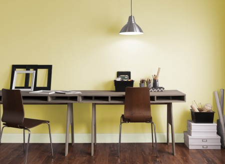 Diseño y colores de oficinas pequeñas modernas