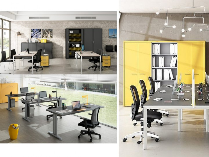 colores para oficina : amarillo