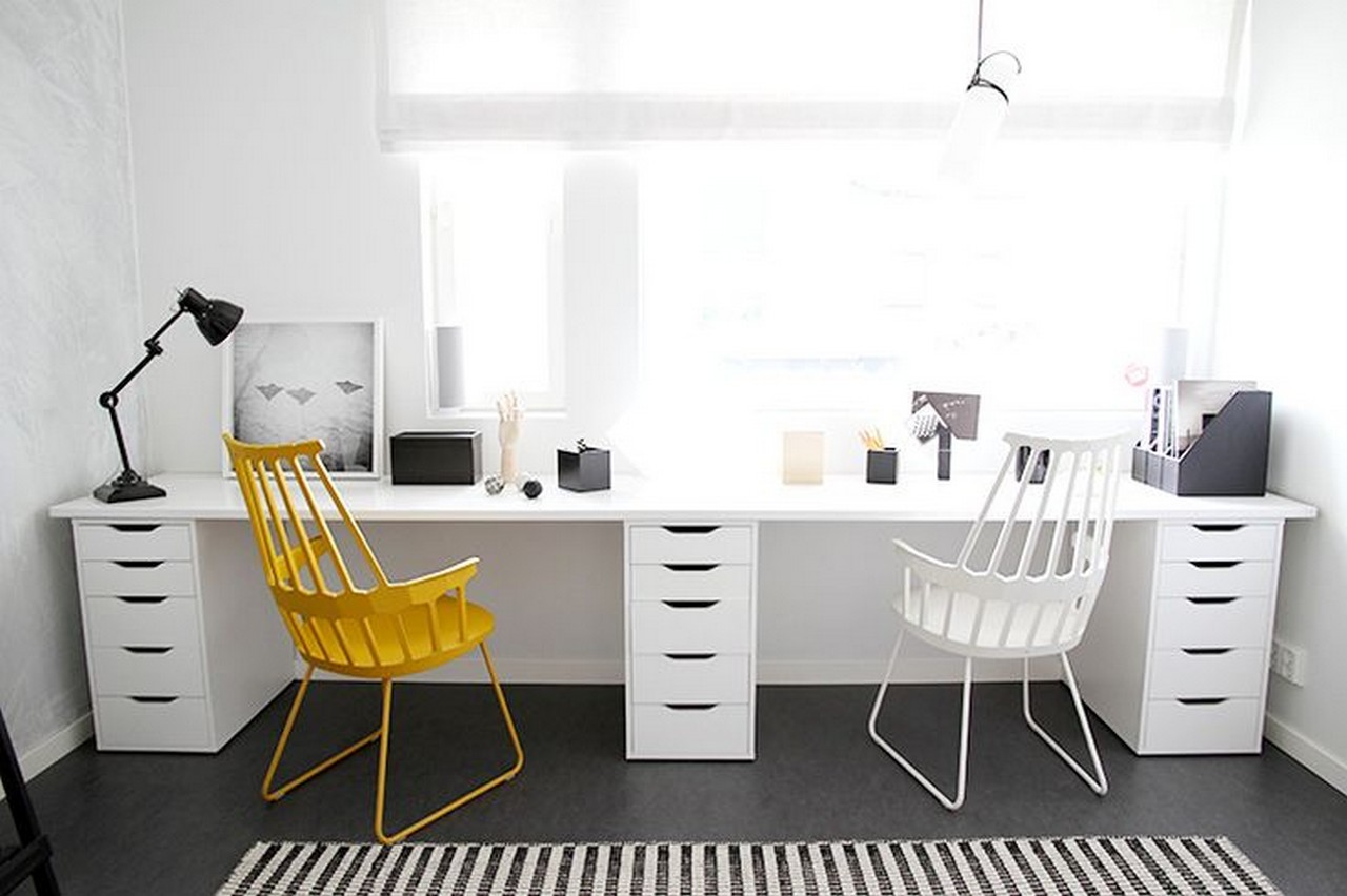 7 tips en dise o de oficinas peque as y modernas. Black Bedroom Furniture Sets. Home Design Ideas