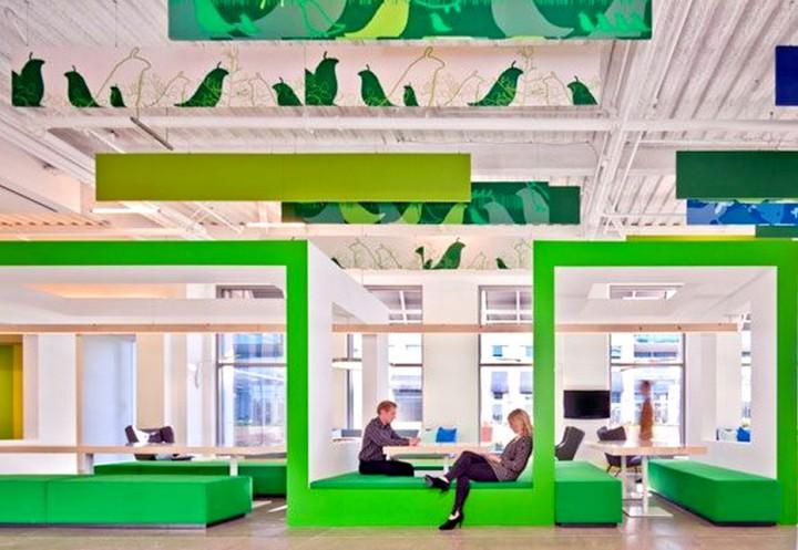 diseño biofílico en la oficina