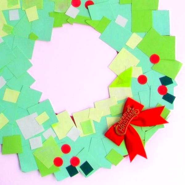Resultado de imagen para corona de navidad de post its