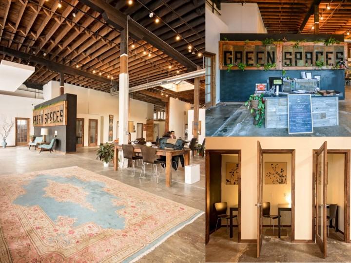 espacio de trabajo compartido green spaces