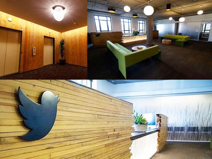 interior de las oficinas de twitter