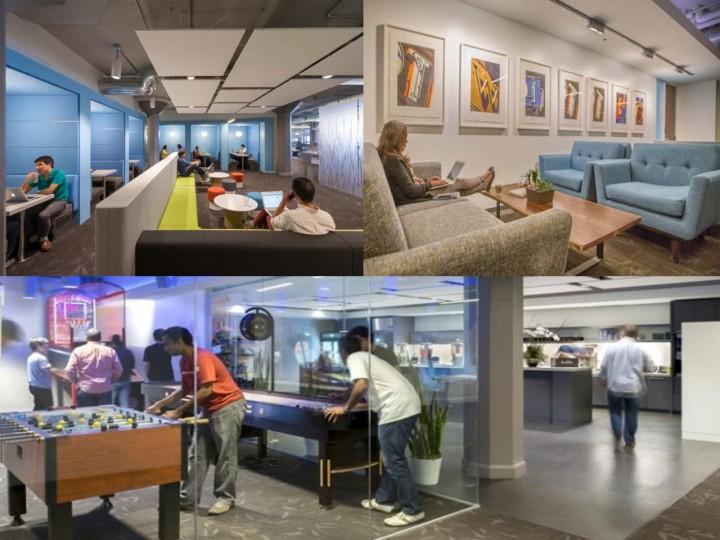 salas de juego en las oficinas de twitter