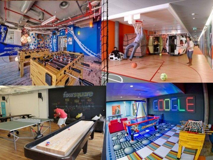 Salas de descanso y recreación en empresas