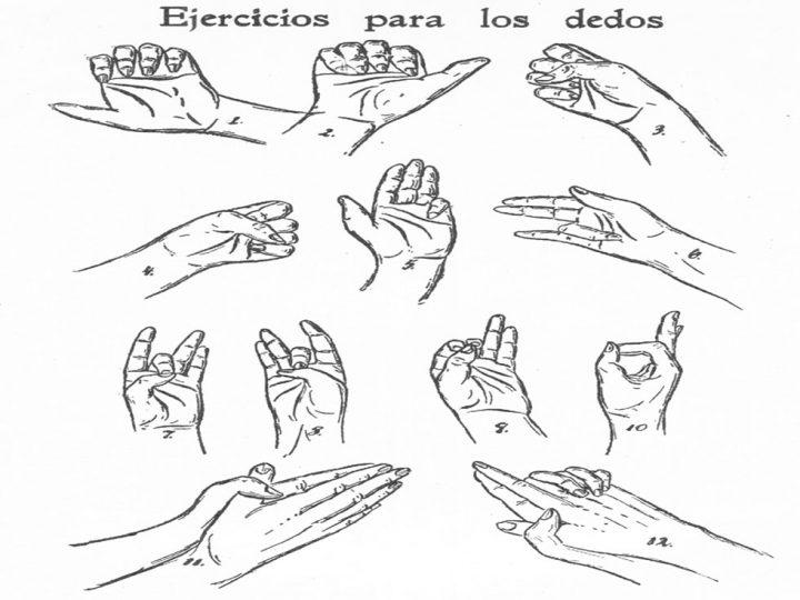 ejercicios de dedos para la oficina