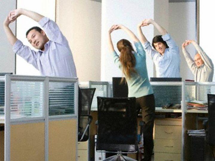 hacer ejercicio en la oficina