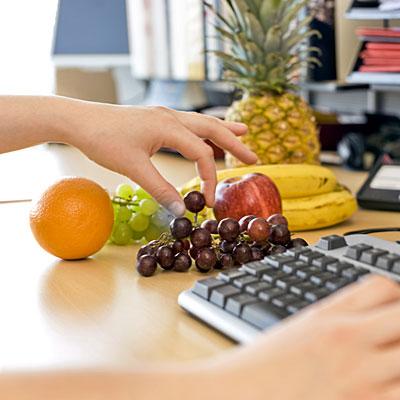 frutas y verduras en el trabajo