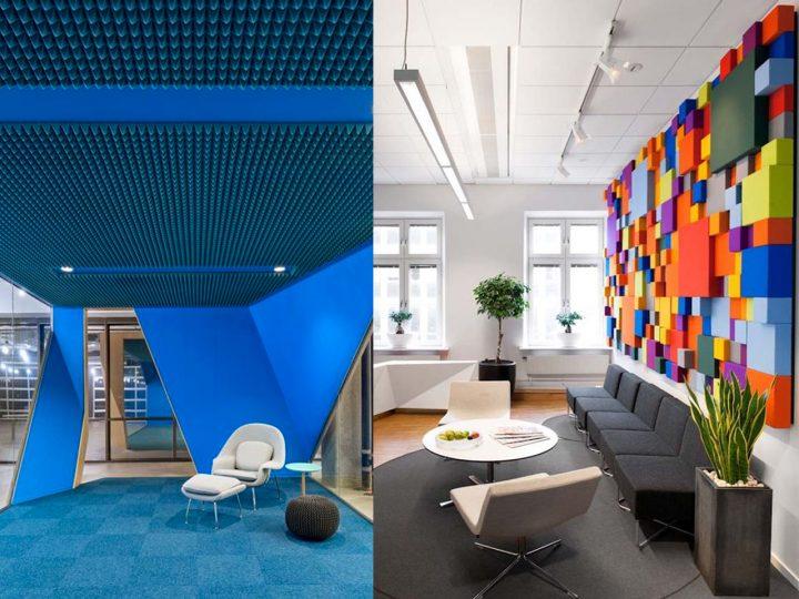 ideas de sala neutral marrón Decoracin De Salas De Espera Para Oficinas