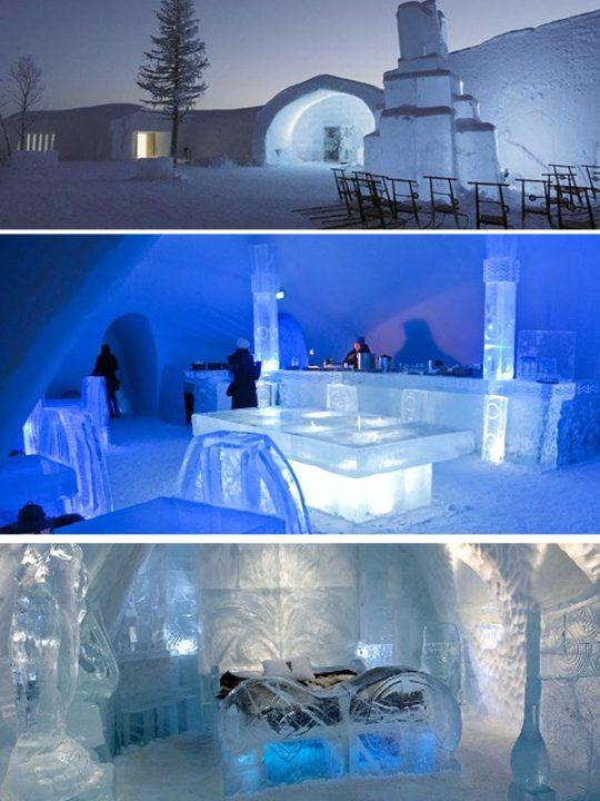 arquitectura efímera en hielo
