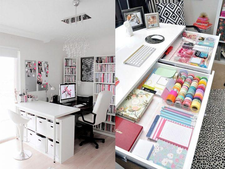 escritorios de oficina con cajones