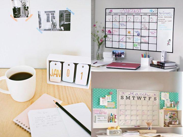 calendario organizativo en la oficina
