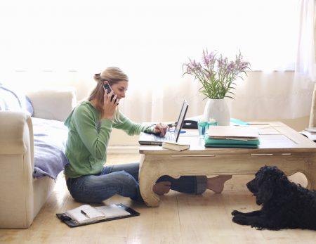 trabajar en casa, menos estrés