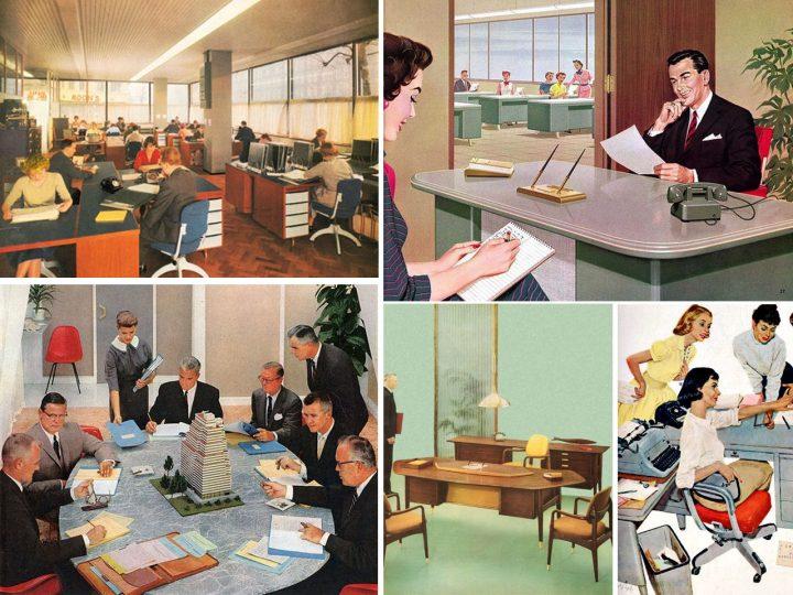 concepto vintage en oficinas