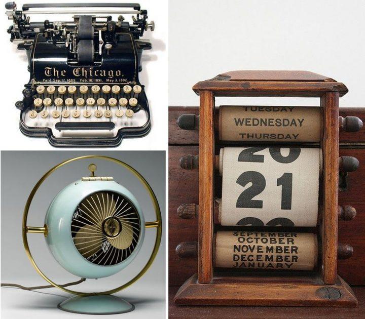 objetos vintage para oficinas