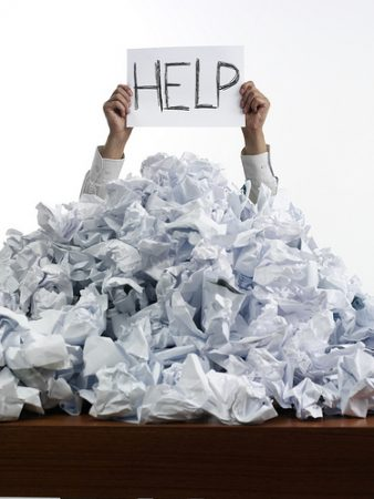 caos de papel