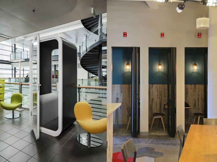 phone booth en la oficina