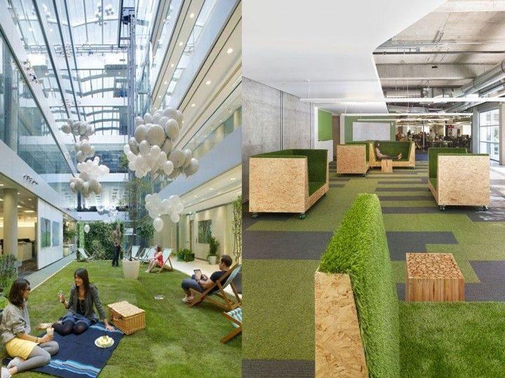 Resultado de imagen para espacios verdes de trabajo