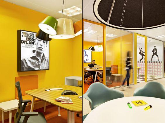sala reunión oficinas de Sony Music