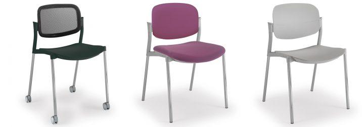 sillas con reposabrazos click