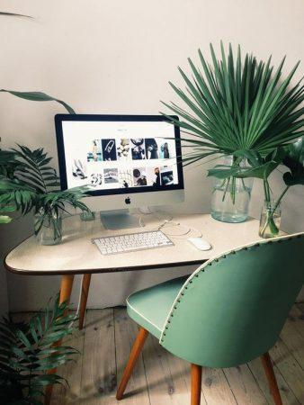 estilos de decoración para oficina estilo tropical