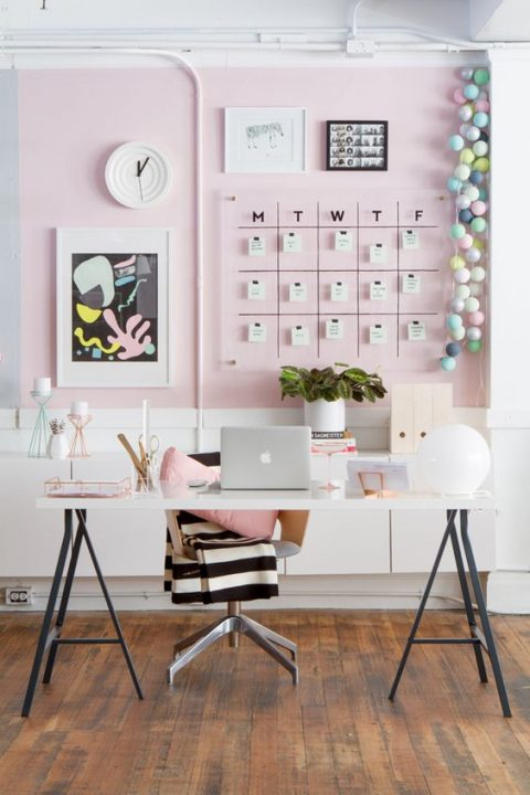 estilos de decoración para oficina estilo vintage