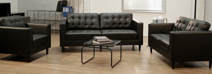 decoración clásica para oficina sofá