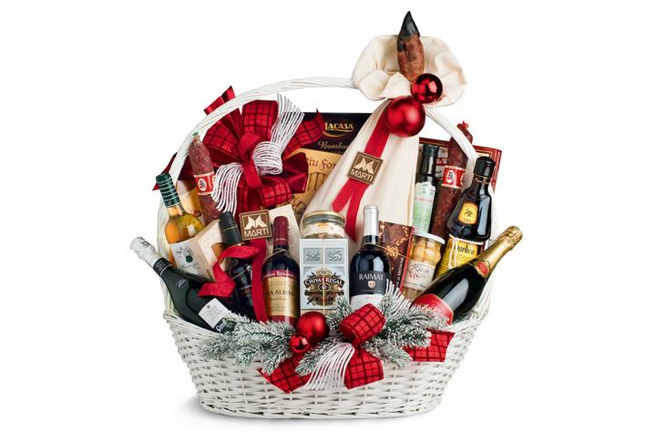 regalos de navidad para empleados cesta