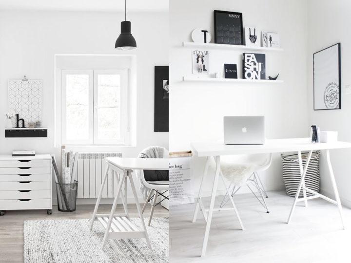 oficina pequeña nórdica