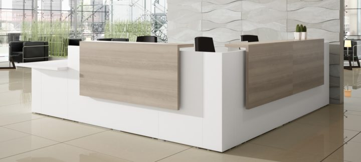 Tendencias muebles de recepci n para oficina blog ofiprix - Mostradores para oficinas ...